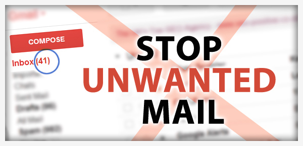 Stop unwanted emails!